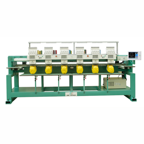 6 Heads Cap / T-shirt Embroidery Machine